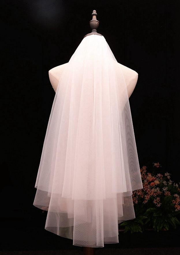 Two-tier Fingertip Bridal Veils