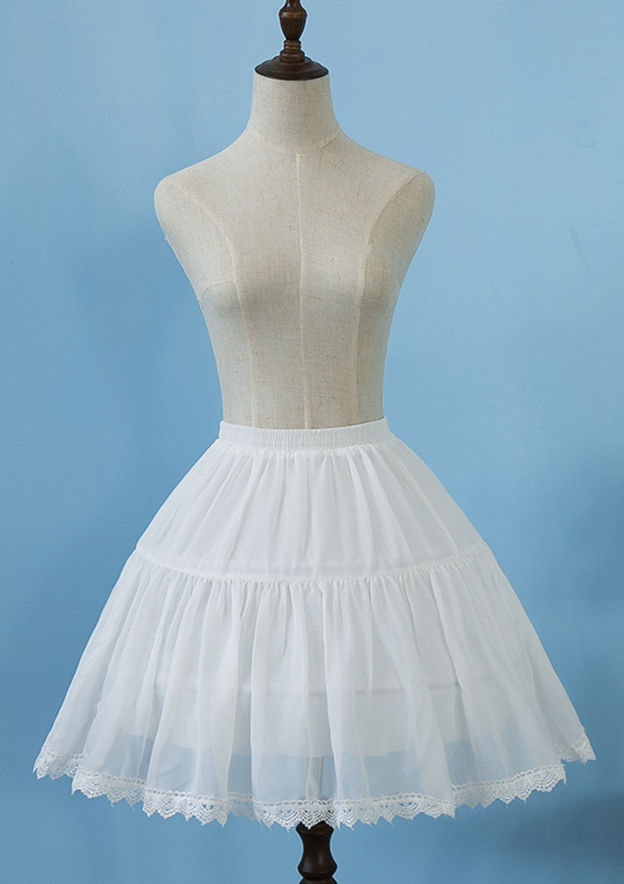 Women Polyester Knee-length 2 Tiers Bridal Petticoats