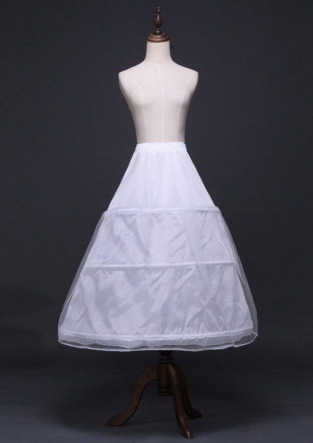 Women Polyester/Tulle Netting Tea-length 2 Tiers