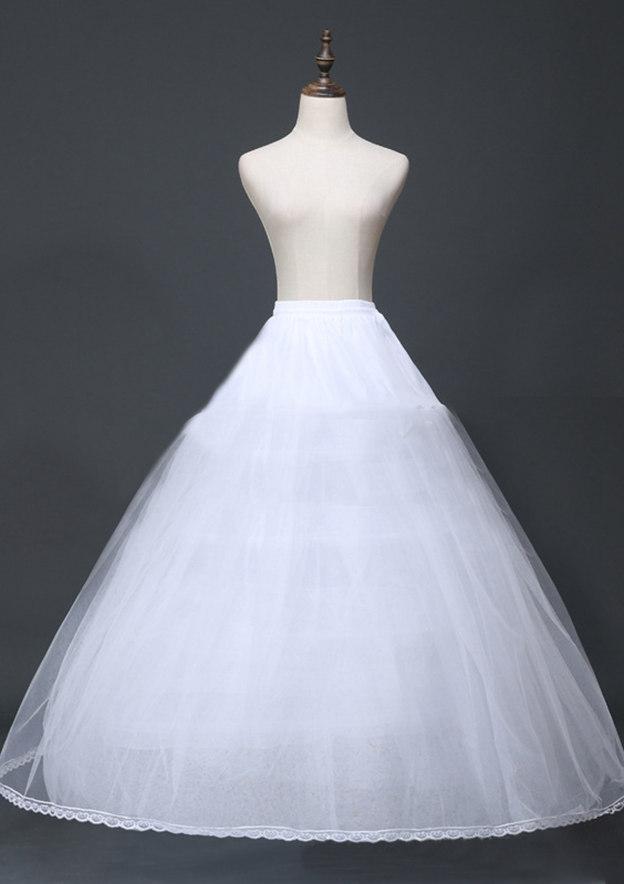 Women Tulle Netting Long/Floor-length 8 Tiers Bridal Petticoats