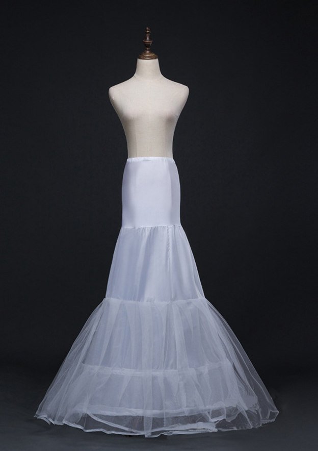 Women Polyester/Tulle Netting Sweep Train 3 Tiers Bridal Petticoats
