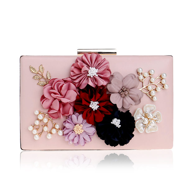 Beautiful PU Clutches With Flower