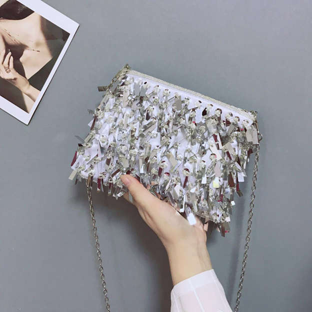 Shining Polyester Clutches/Evening Bags With Sequin