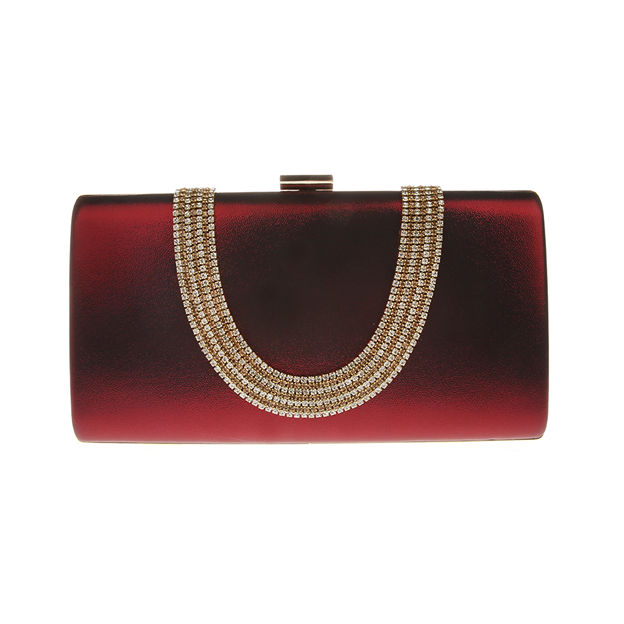 Gorgeous PU Clutches/Evening Bags With Rhinestone