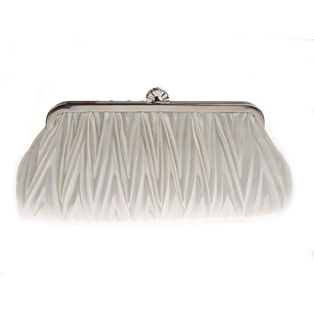 Elegant Satin Clutches/Evening Bags With Pleated