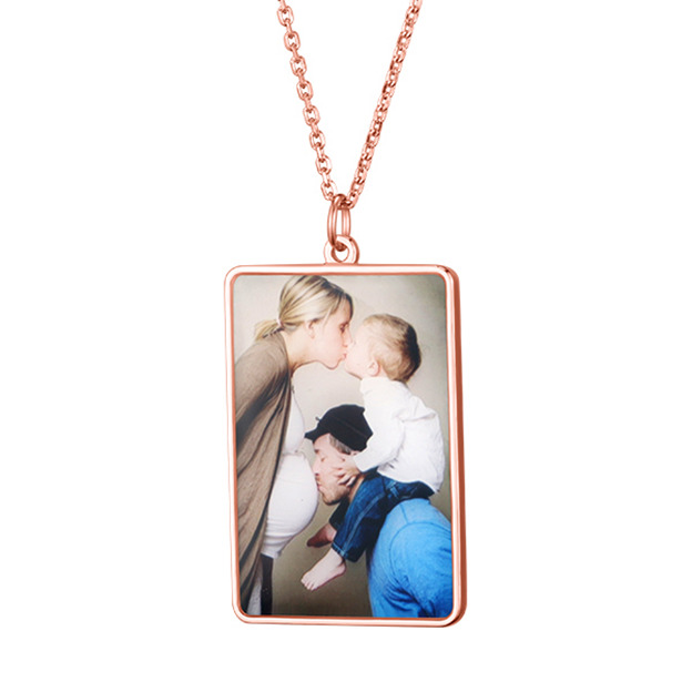 Personalized Customized 925 Sterling Silver Engraved Photo Necklaces