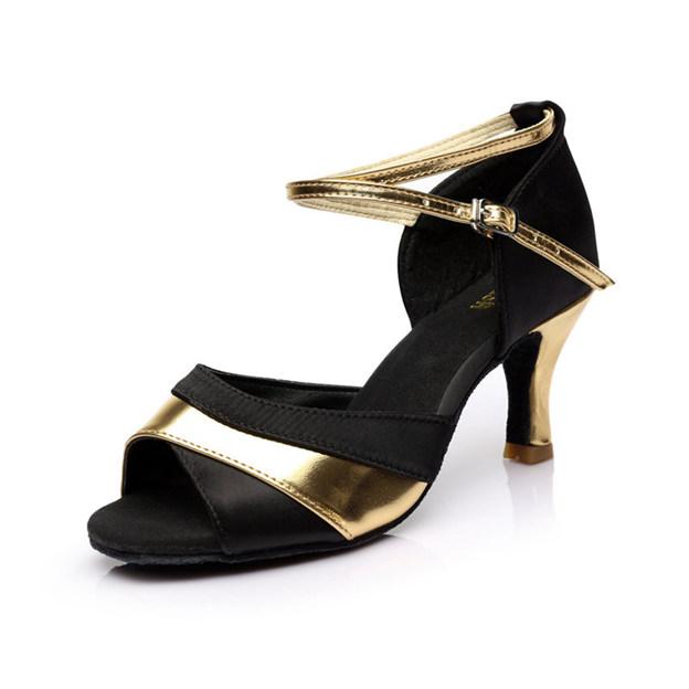 Women's Satin/PU With Buckle Heels/Peep Toe Dance Shoes