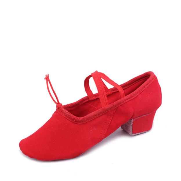 Women's Canvas Close Toe Dance Shoes