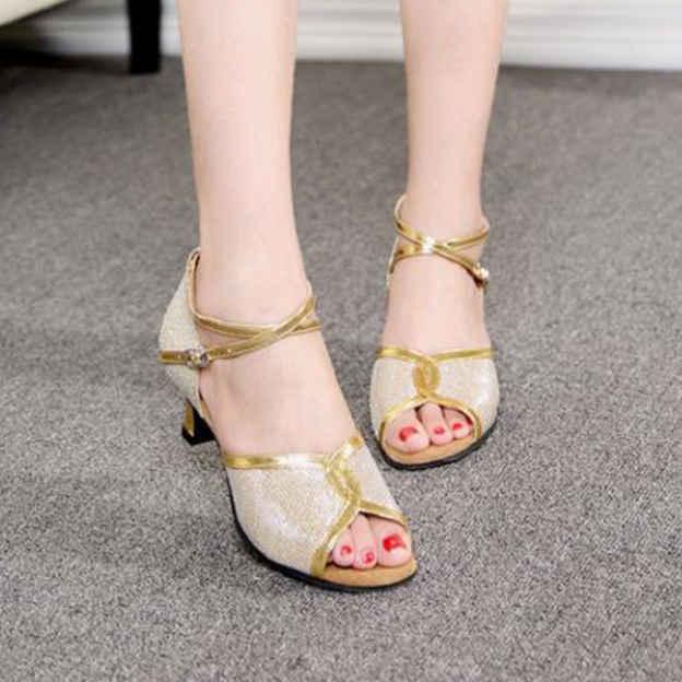 Women's PU/Leather With Buckle Heels/Peep Toe Dance Shoes