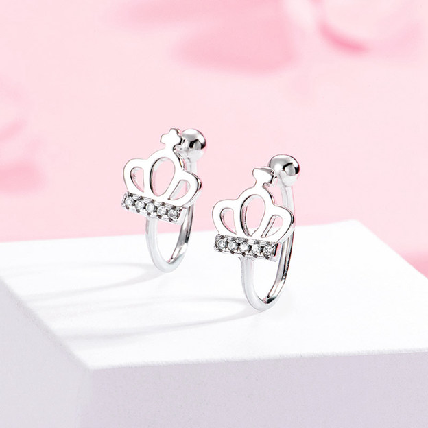 Women's Beautiful 925 Sterling Silver Earrings With Cubic Zirconia For Her