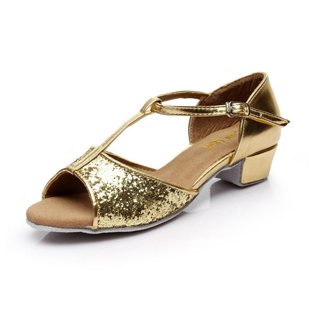 Women's/Girl's PU With Sequins Peep Toe Dance Shoes