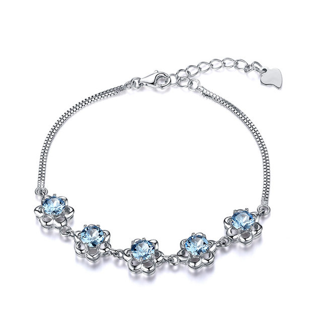 Women's Beautiful 925 Sterling Silver Bracelets With Cubic Zirconia For Her