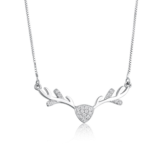 Women's Attractive 925 Sterling Silver Necklaces With Cubic Zirconia