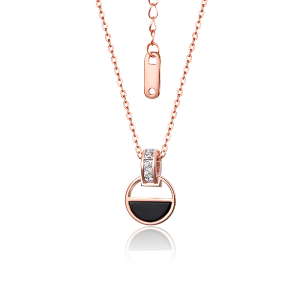 Women's Attractive 925 Sterling Silver Necklaces With Agate/Cubic Zirconia For Her