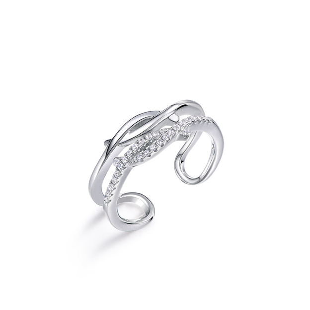 Women's Attractive 925 Sterling Silver Rings With Cubic Zirconia For Her