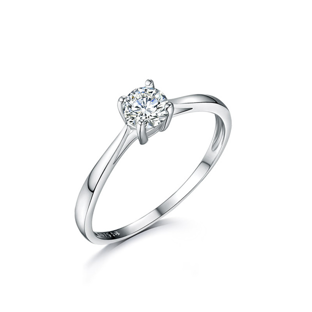 Women's Elegant 925 Sterling Silver Rings With Cubic Zirconia For Her