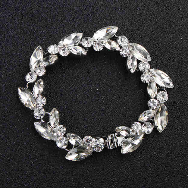 Women's Elegant Alloy Rhinestones Bracelets With For Bride