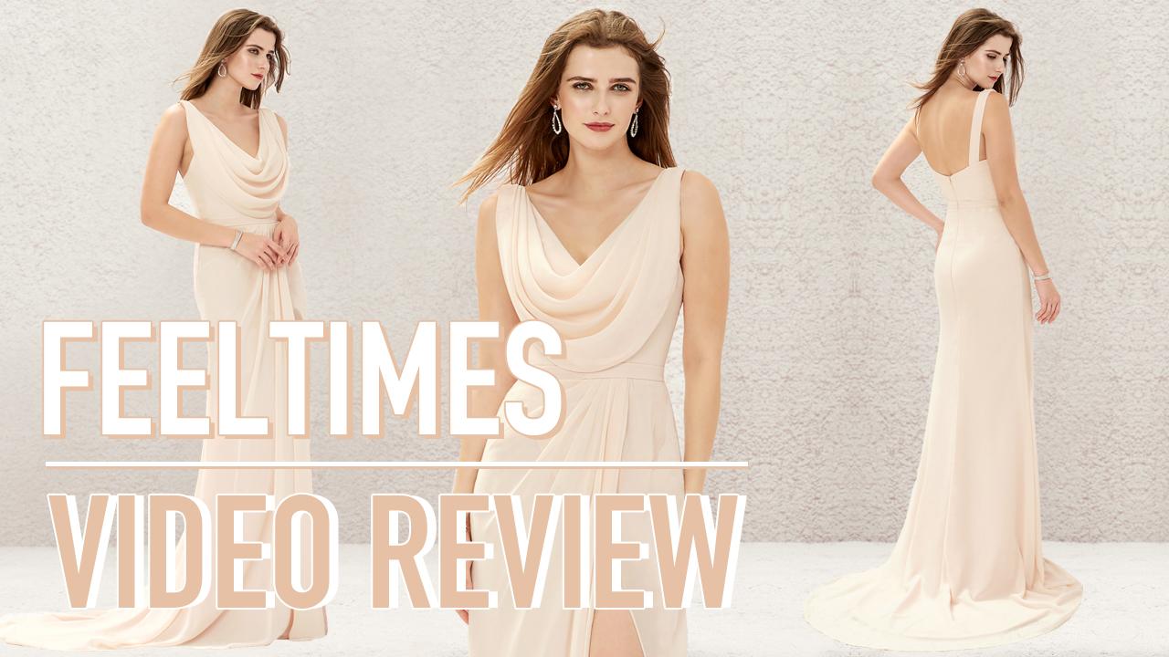 Bridesmaid Dress M19254B丨A-line/Princess Chiffon Bridesmaid Dress With Split/Pleated - FeelTimes